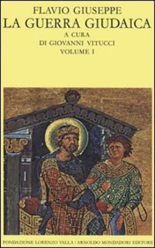 La guerra giudaica. Vol. 1 - Giuseppe Flavio - copertina