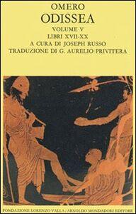 Libro Odissea. Vol. 5: Libri XVII-XX. Omero