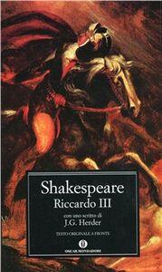 Foto Cover di Riccardo III, Libro di William Shakespeare, edito da Mondadori
