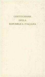 Libro La costituzione della Repubblica italiana