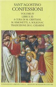 Foto Cover di Le confessioni. Vol. 4, Libro di Agostino (sant'), edito da Mondadori