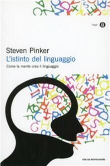 L' istinto del linguaggio - Steven Pinker - copertina