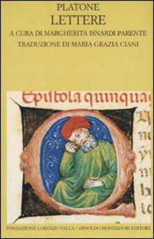 Lettere. Testo greco a fronte - Platone - copertina