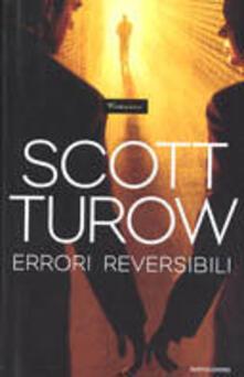 Errori reversibili - Scott Turow - copertina