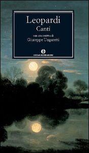 Foto Cover di Canti, Libro di Giacomo Leopardi, edito da Mondadori