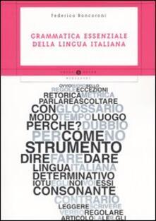 Cocktaillab.it Grammatica essenziale della lingua italiana Image