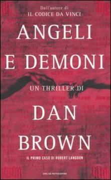 Angeli e demoni - Dan Brown - copertina