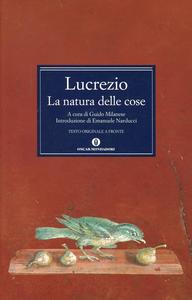 Libro La natura delle cose Tito Lucrezio Caro
