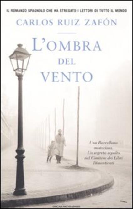 L' ombra del vento - Carlos Ruiz Zafón - copertina