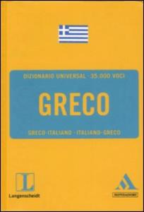 Libro Langenscheidt. Greco. Greco-italiano, italiano-greco