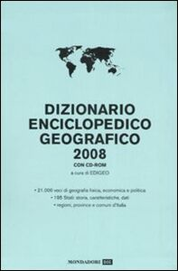 Libro Dizionario enciclopedico geografico 2008. Con CD-ROM