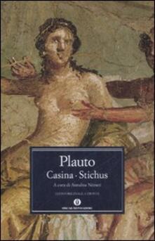 Casina-Stichus. Testo latino a fronte - T. Maccio Plauto - copertina