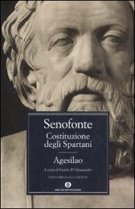 Costituzione degli spartani-Agesilao. Testo greco a fronte