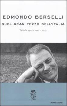 Associazionelabirinto.it Quel gran pezzo dell'Italia. Tutte le opere 1995-2010 Image