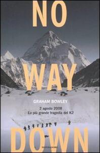 No way down. 2 agosto 2008. La più grande tragedia del K2