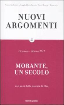 Nuovi argomenti. Vol. 57: Morante, un secolo..pdf