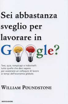 Camfeed.it Sei abbastanza sveglio per lavorare in Google? Test, quiz, rompicapi e indovinelli: tutto quello che devi sapere per sostenere un colloquio di lavoro... Image