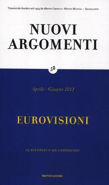 Nuovi argomenti. Vol. 58: Eurovisioni. - copertina
