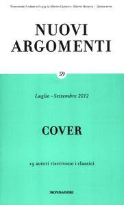 Nuovi argomenti. Vol. 59: Cover.