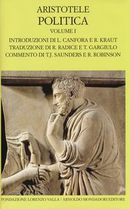 Libro Politica. Testo greco a fronte. Vol. 1: Libri I-IV. Aristotele