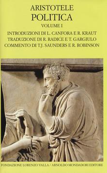 Politica. Testo greco a fronte. Vol. 1: Libri I-IV. - Aristotele - copertina