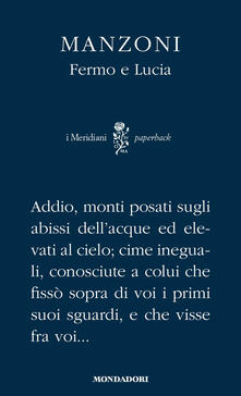 Fermo e Lucia - Alessandro Manzoni - copertina