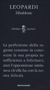 Libro Zibaldone. Ediz. critica e commentata Giacomo Leopardi
