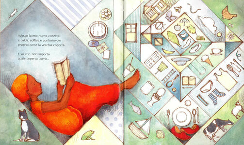 Foto Cover di Una coperta di parole, Libro di Irena Kobald,Freya Blackwood, edito da Mondadori 4