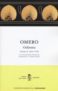 Libro Odissea. Testo greco a fronte. Vol. 2: Libri V-VIII. Omero