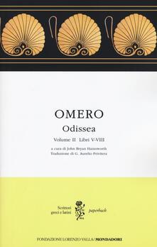Odissea. Testo greco a fronte. Vol. 2: Libri V-VIII. - Omero - copertina
