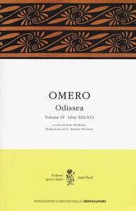 Libro Odissea. Testo greco a fronte. Vol. 4: Libri XIII-XVI. Omero