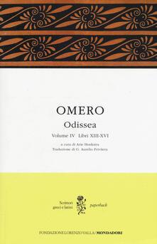 Odissea. Testo greco a fronte. Vol. 4: Libri XIII-XVI. - Omero - copertina