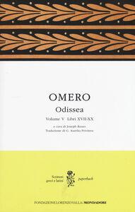 Libro Odissea. Testo greco a fronte. Vol. 5: Libri XVII-XX. Omero