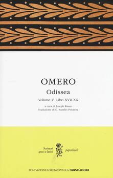 Odissea. Testo greco a fronte. Vol. 5: Libri XVII-XX. - Omero - copertina