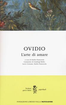 L' arte di amare. Testo latino a fronte - P. Nasone Ovidio - copertina