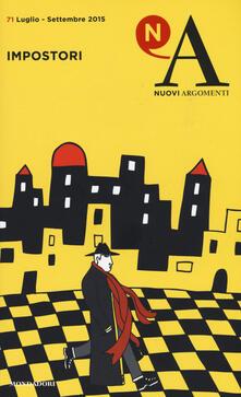 Nuovi argomenti. Vol. 71: Impostori. - copertina