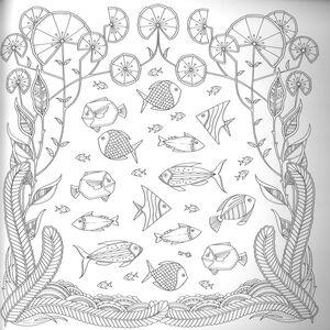 Libro Oceano delle meraviglie Johanna Basford 2