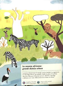 Libro Il mondo della savana. Il mio albo della natura. Con adesivi Olivia Cosneau 1