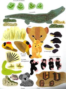 Libro Il mondo della savana. Il mio albo della natura. Con adesivi Olivia Cosneau 4
