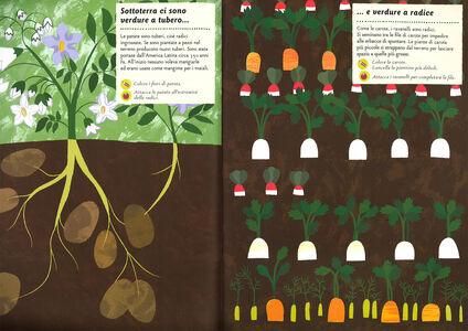 Foto Cover di I colori dell'orto. Il mio albo della natura. Con adesivi, Libro di Olivia Cosneau, edito da Mondadori 1