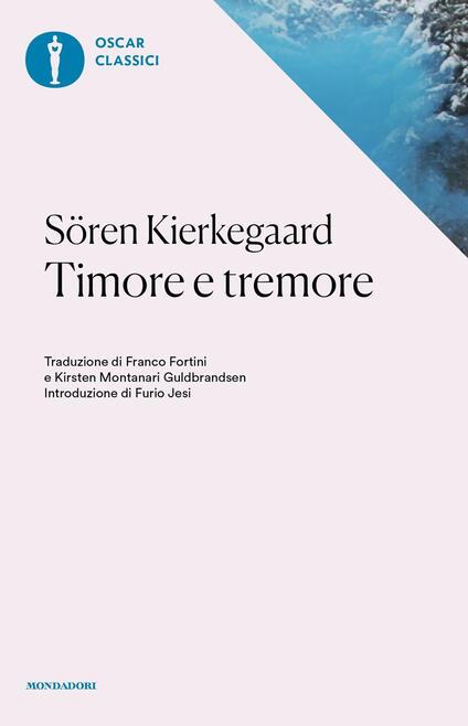 Timore e tremore - Søren Kierkegaard - copertina