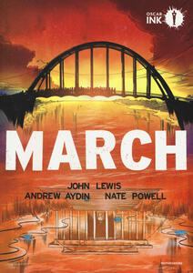 March. Libro uno - John Lewis,Andrew Aydin,Nate Powell - copertina
