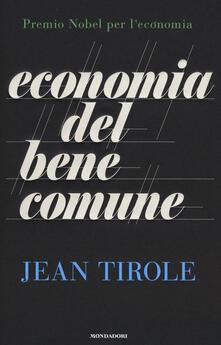 Economia del bene comune - Jean Tirole - copertina