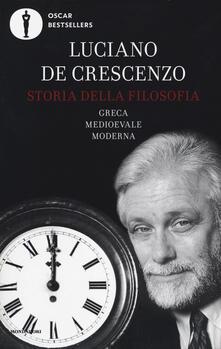 Storia della filosofia greca, medioevale, moderna - Luciano De Crescenzo - copertina