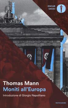 Moniti all'Europa - Thomas Mann - copertina