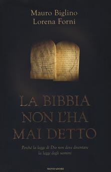 Criticalwinenotav.it La Bibbia non l'ha mai detto. Perché la legge di Dio non deve diventare la legge degli uomini Image