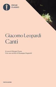 Canti - Giacomo Leopardi - copertina