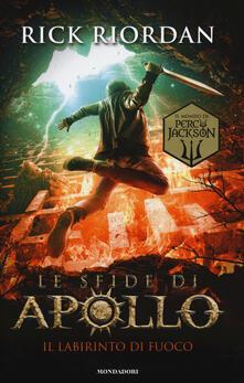 Il labirinto di fuoco. Le sfide di Apollo. Vol. 3 - Rick Riordan - copertina
