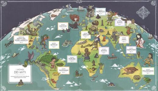 Atlante dei miti. Mostri e leggende, divinità ed eroi in 12 mappe di mondi mitologici. Ediz. a colori - Thiago de Moraes - 2