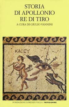 Storia di Apollonio re di Tiro. Testo latino a fronte - Anonimo - copertina